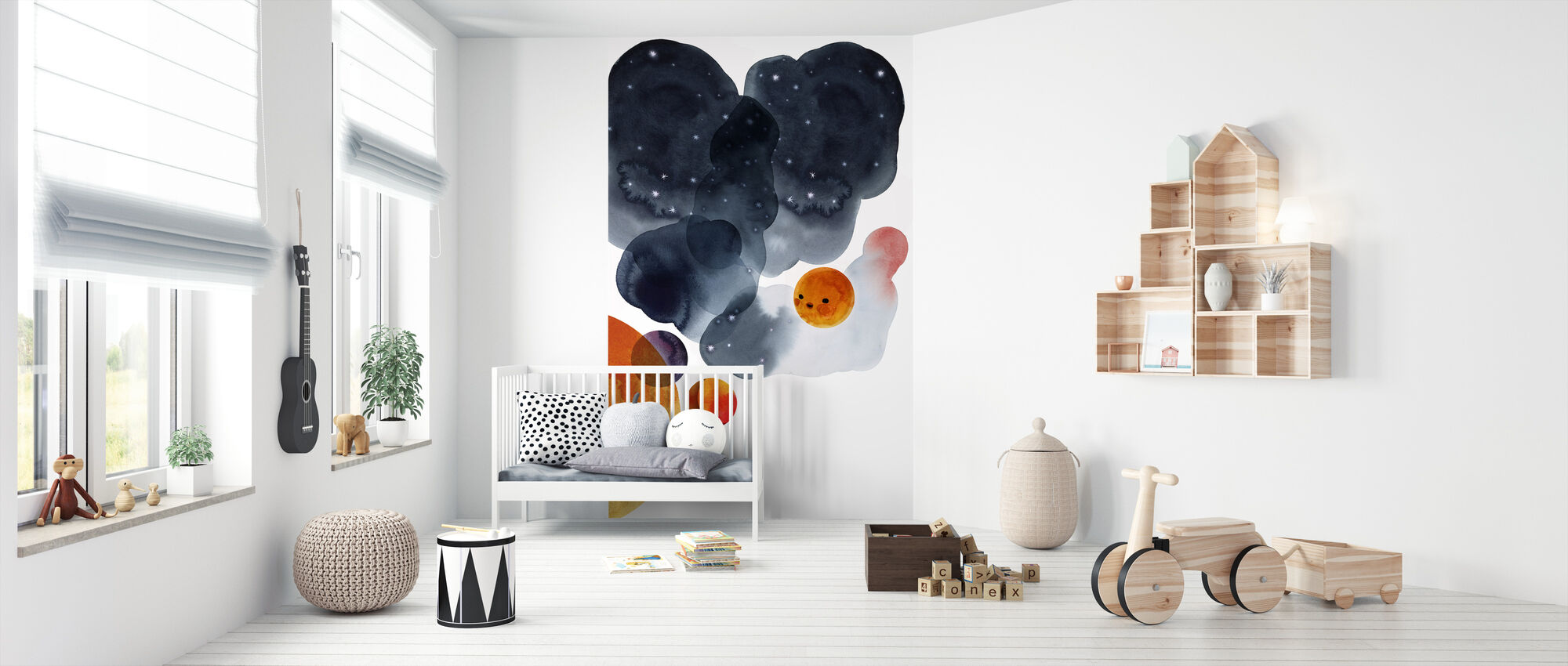 Water Color Space II - Wallpaper - Nursery