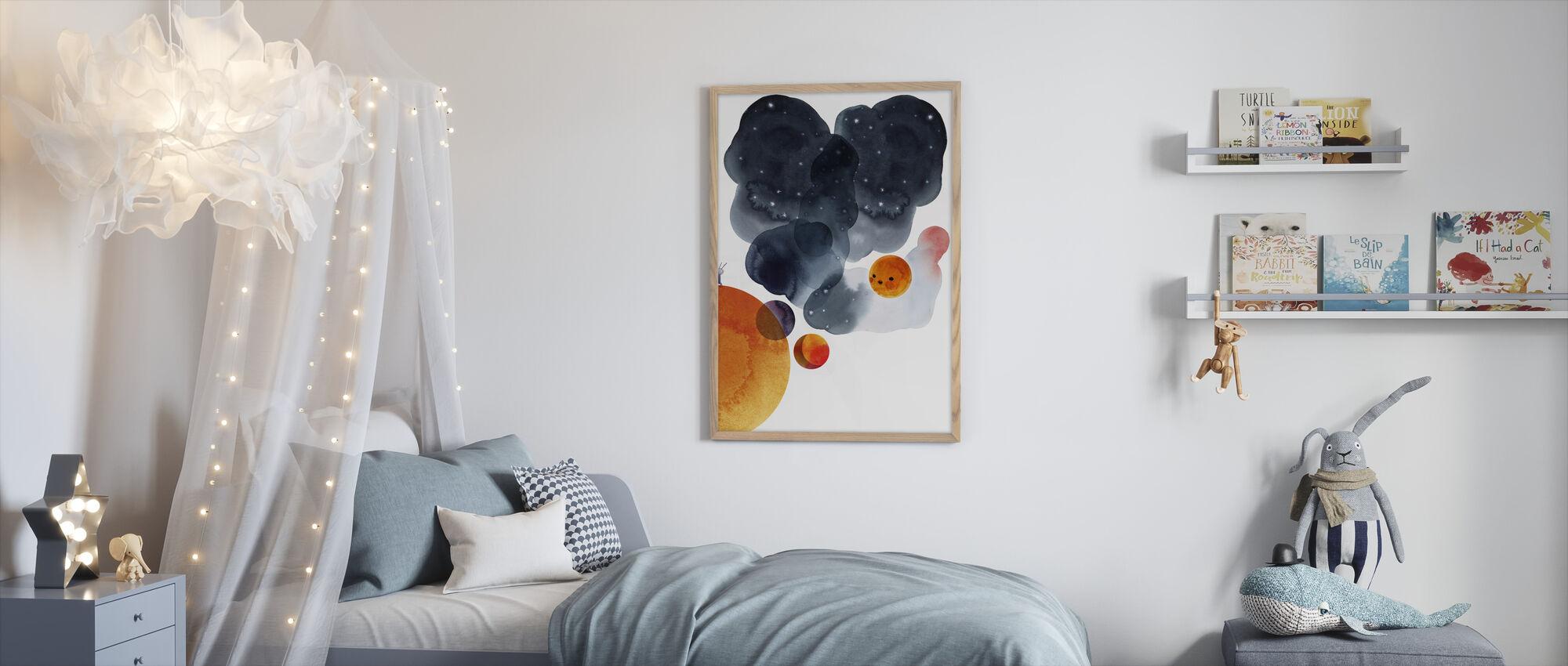 Water Color Space II - Framed print - Kids Room
