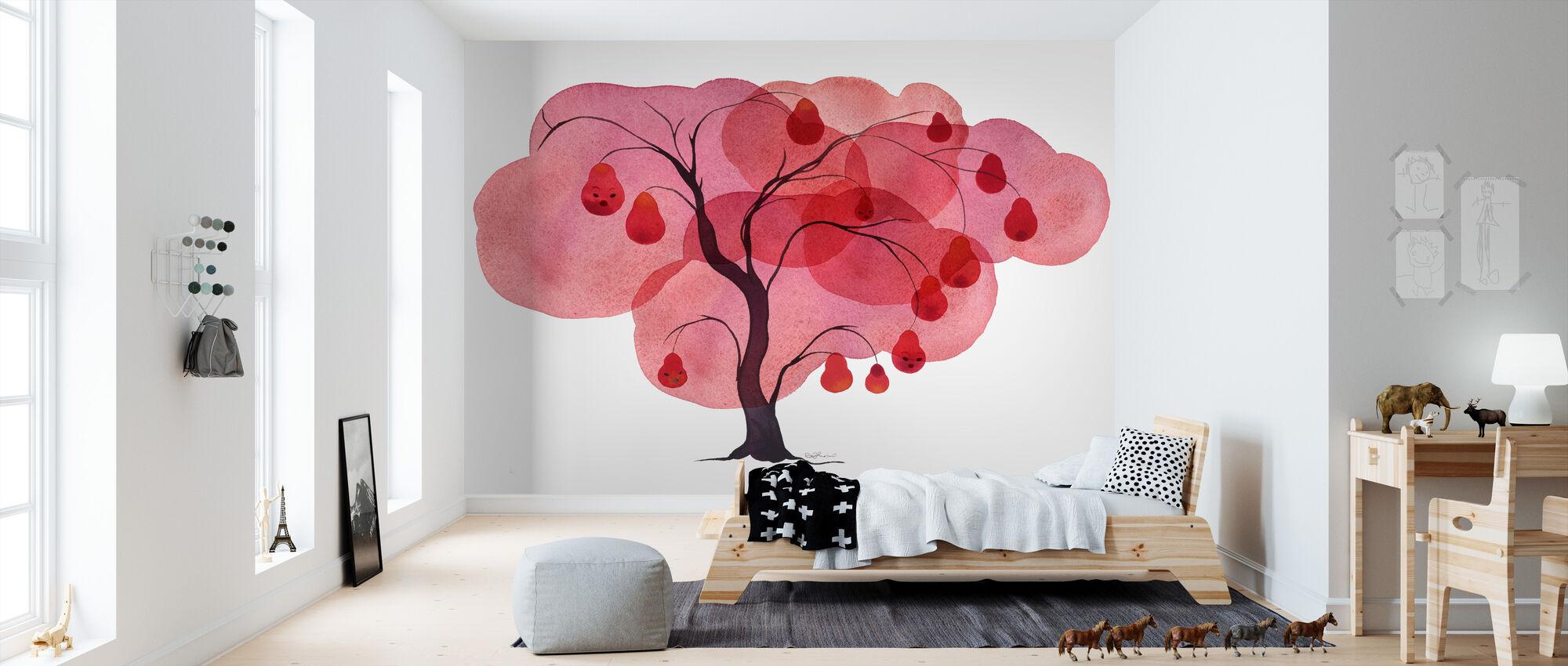 Water Color Trees I - Wallpaper - Kids Room