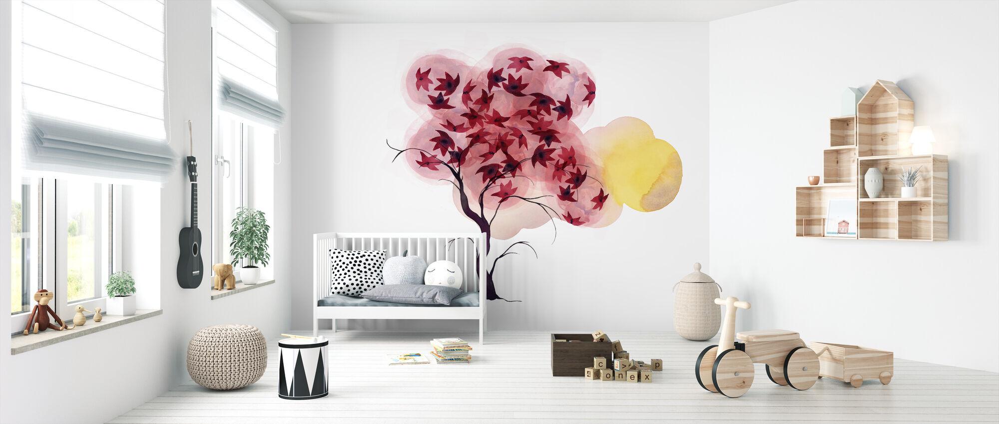 Water Color Trees II - Wallpaper - Nursery