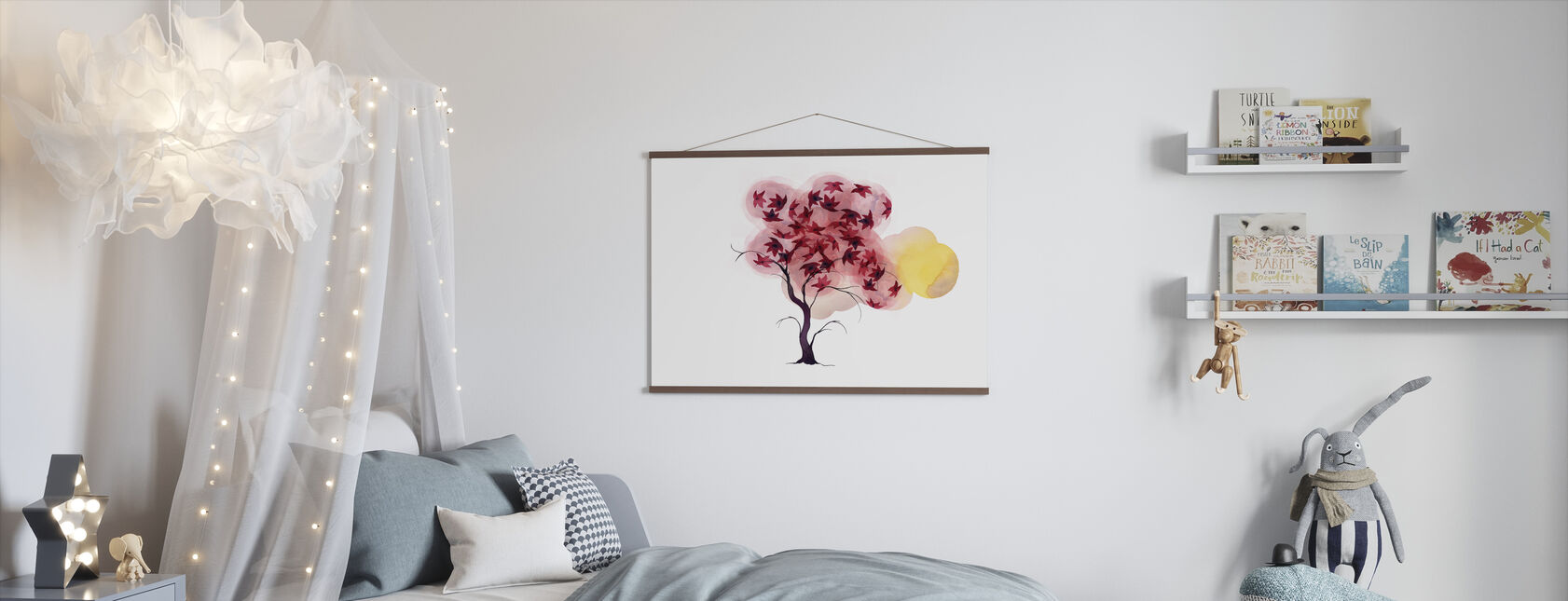 Water Color Trees II - Poster - Kids Room