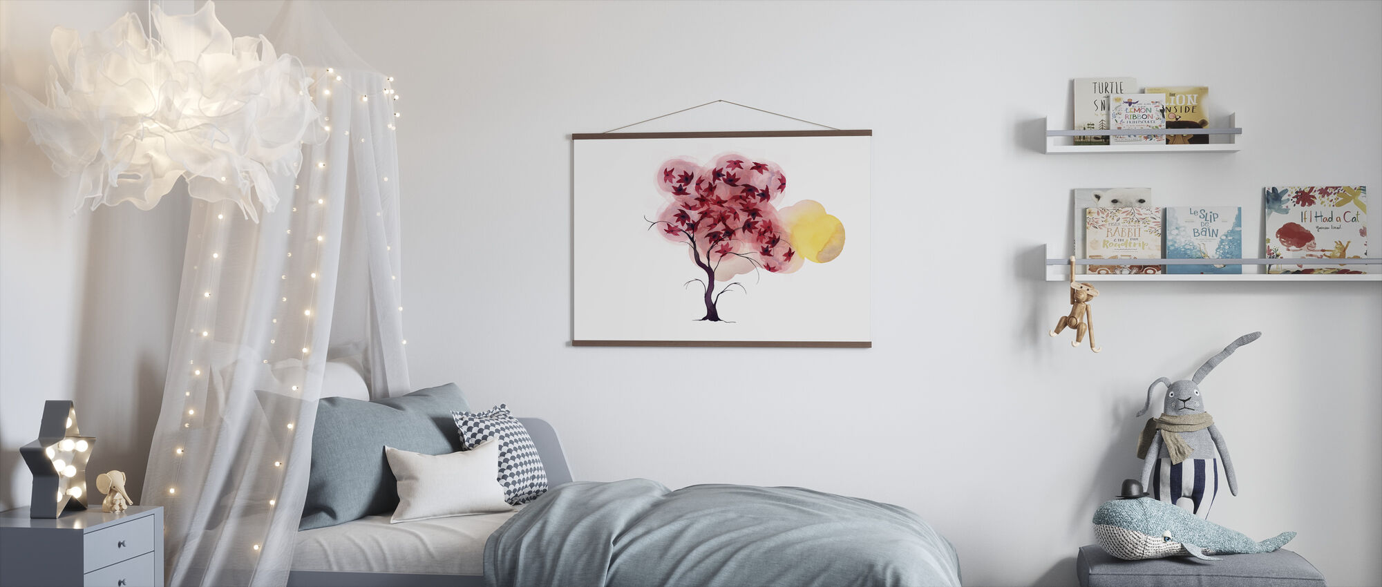 Water Color Trees II - Poster - Kids Room