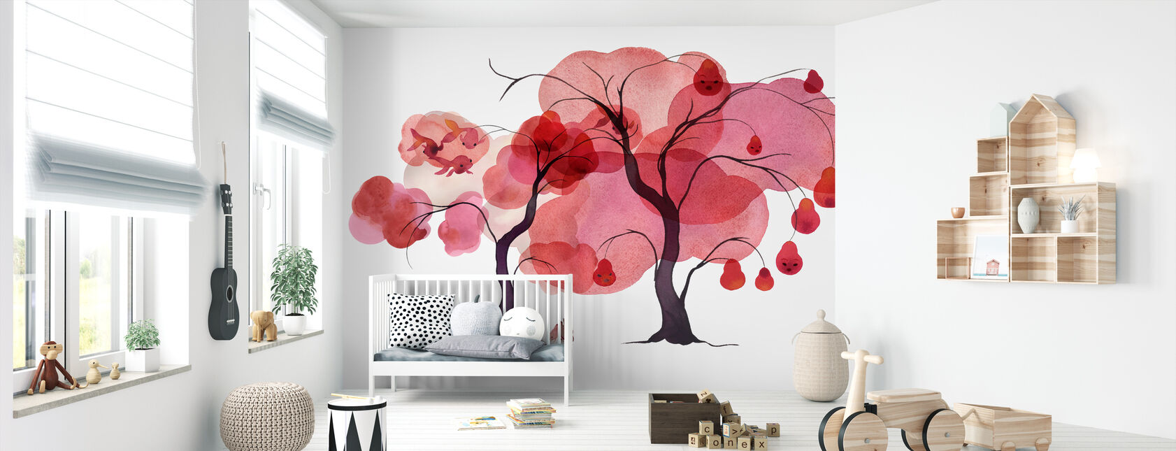 Water Color Trees III - Wallpaper - Nursery