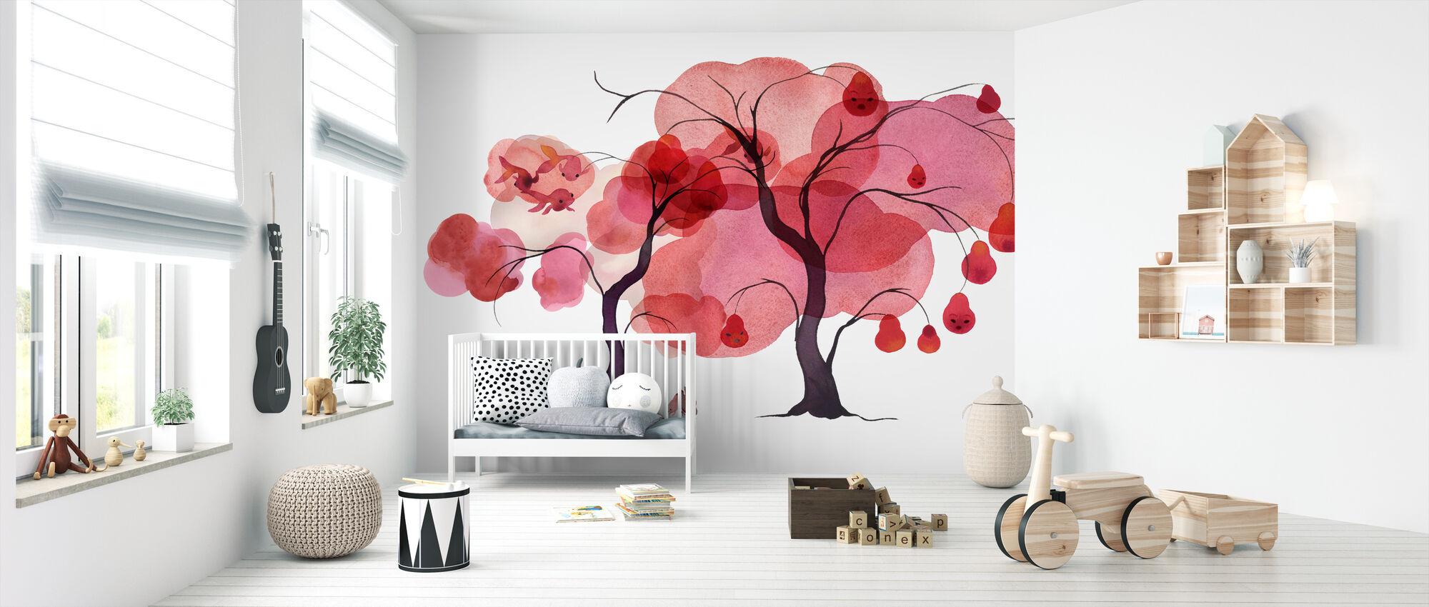 Aquarell Bäume III - Tapete - Babyzimmer