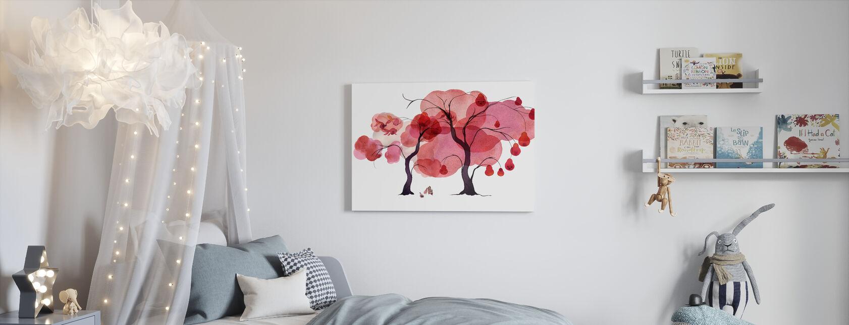 Water Color Trees III - Canvas print - Kids Room