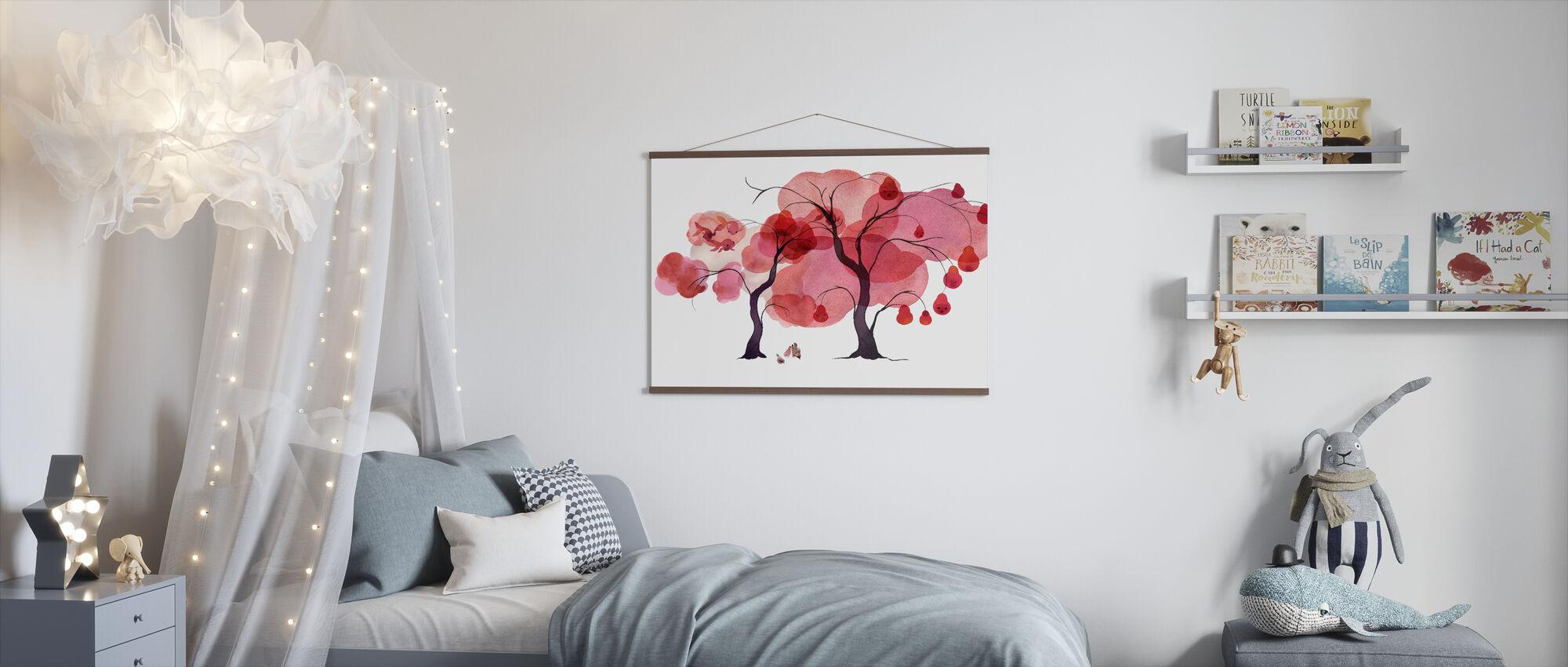 Water Color Trees III - Poster - Kids Room
