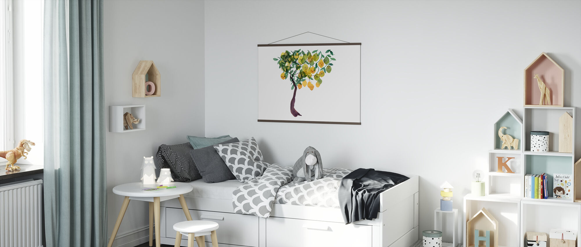 Water Color Trees V - Poster - Kids Room