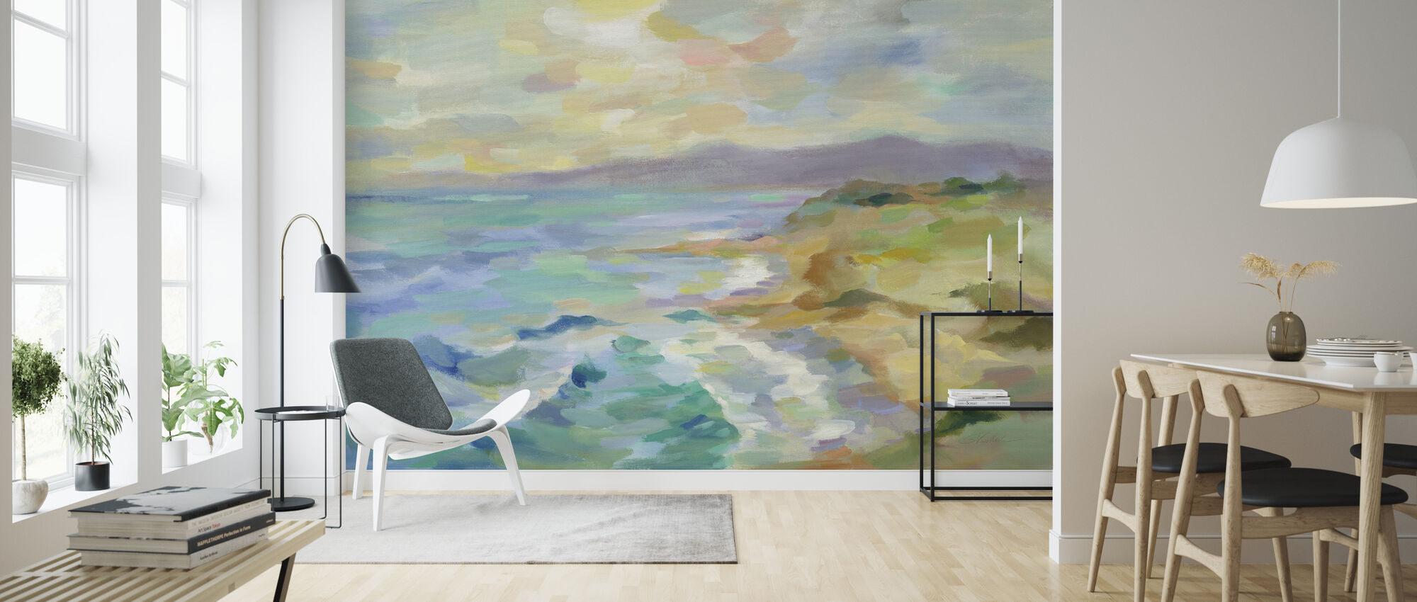 Dunes by the Sea - Wallpaper - Living Room