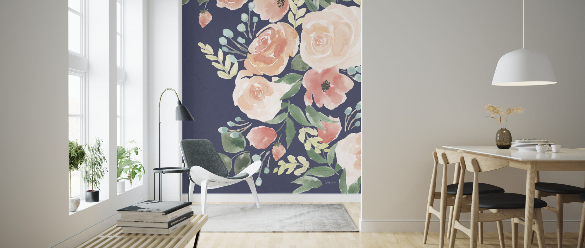 Blooming Delight II - Wallpaper - Living Room