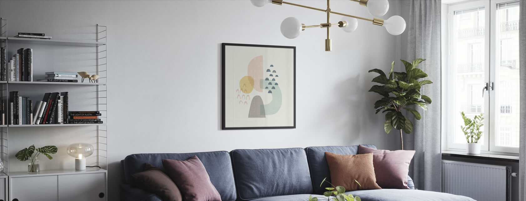 Happy Thoughts I - Framed print - Living Room