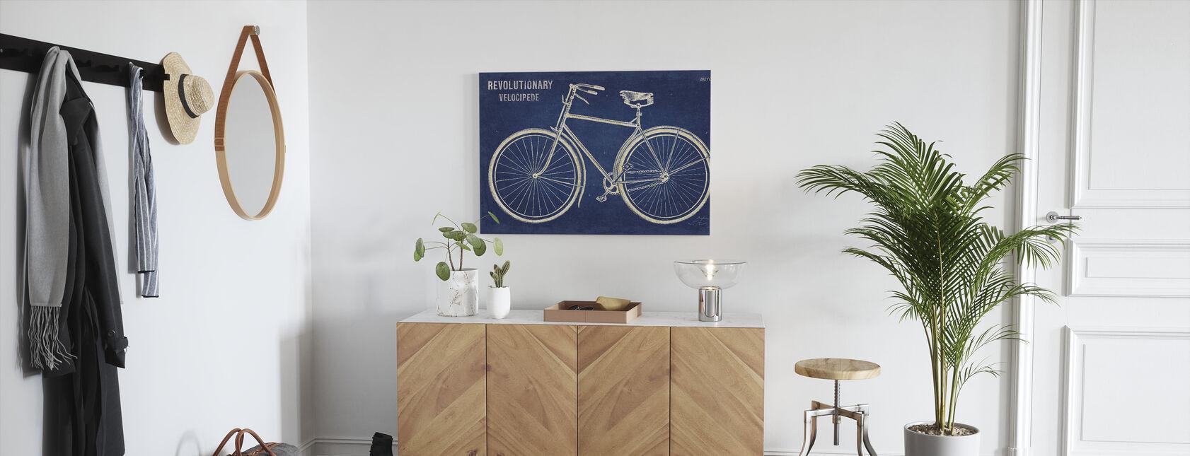 Blueprint Cykel - Billede på lærred - Entré