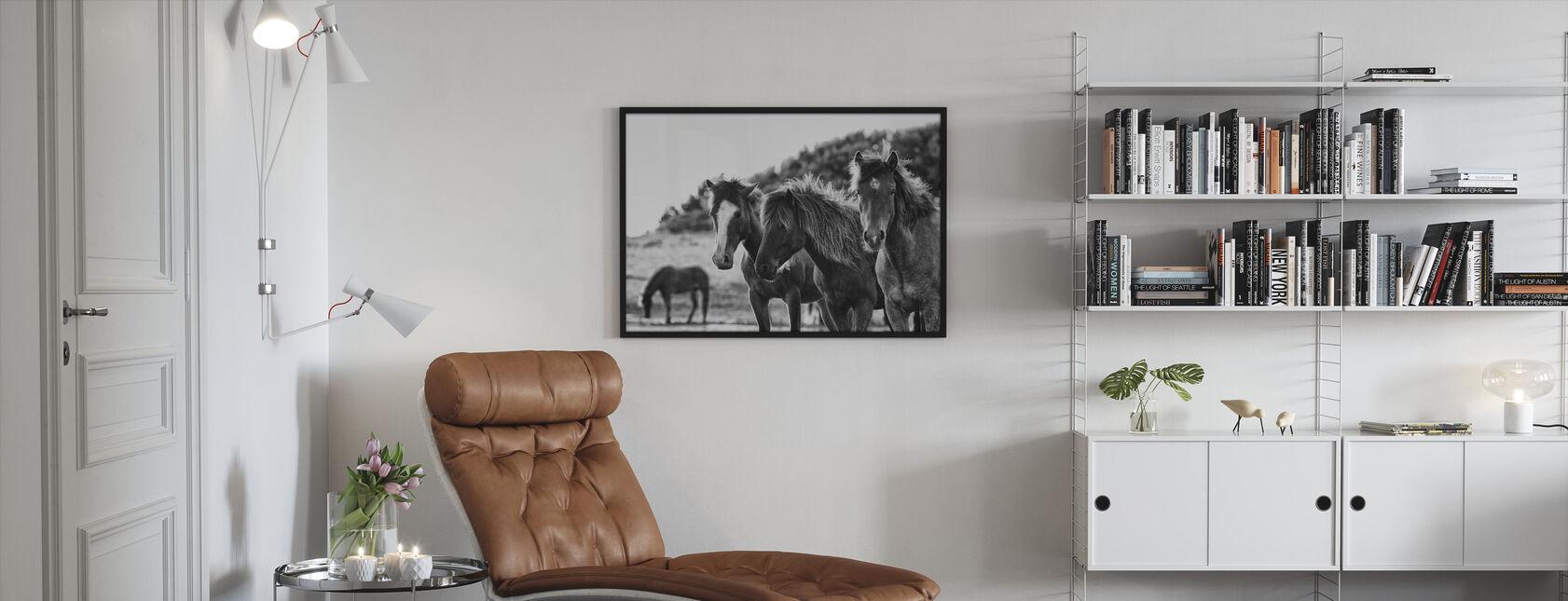 Caballos Tres - Print enmarcado - Salón