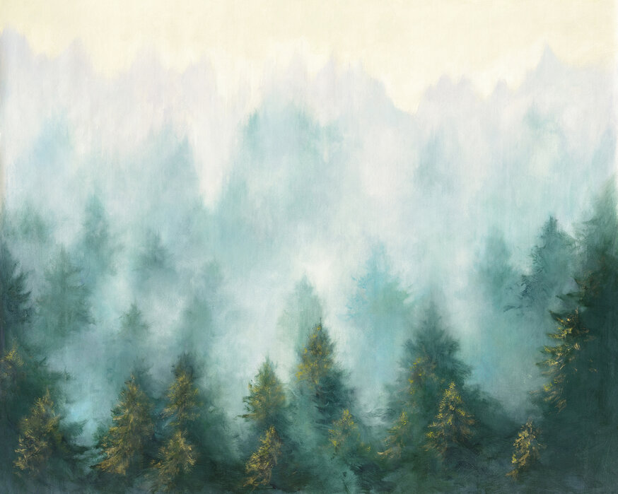 Misty Forest Made To Measure Canvas Print Photowall