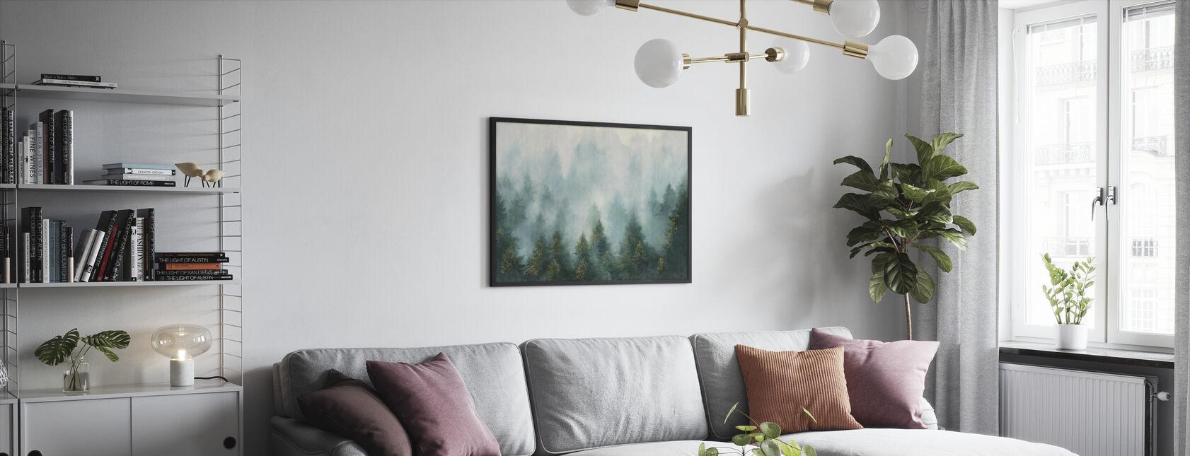 Misty Forest - Framed print - Living Room