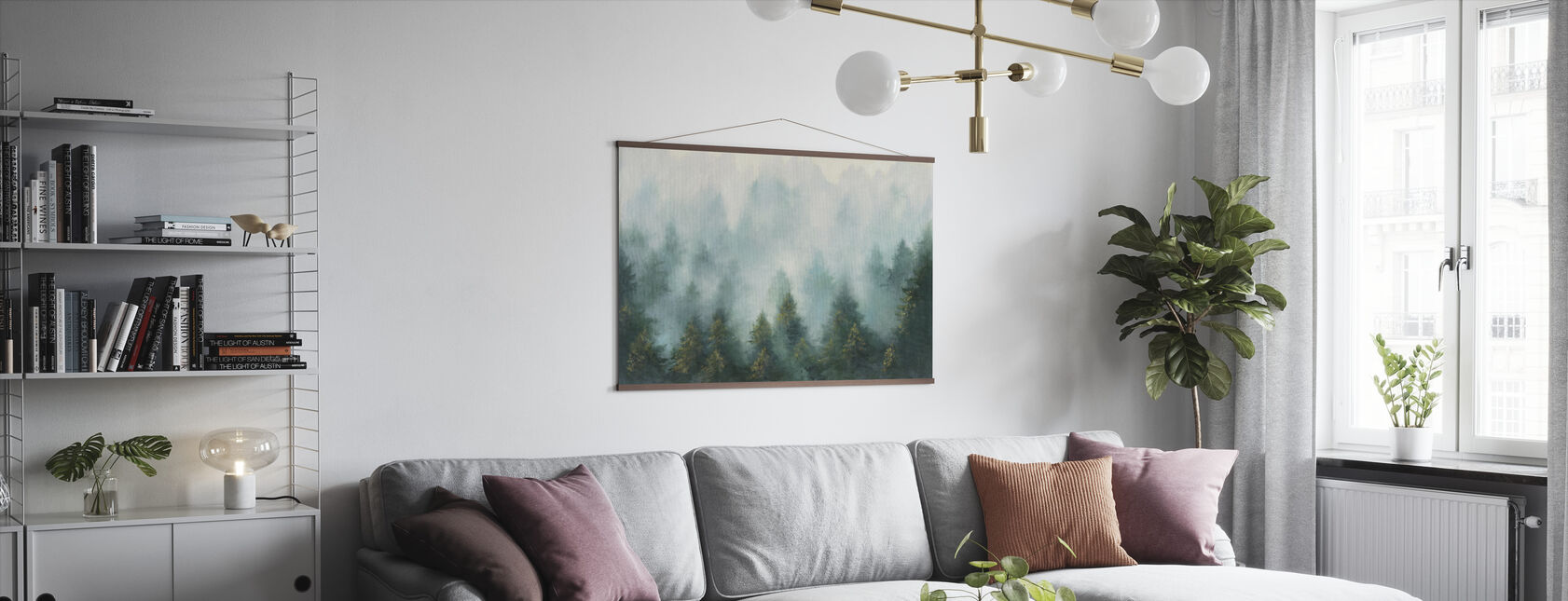 Misty Bos - Poster - Woonkamer