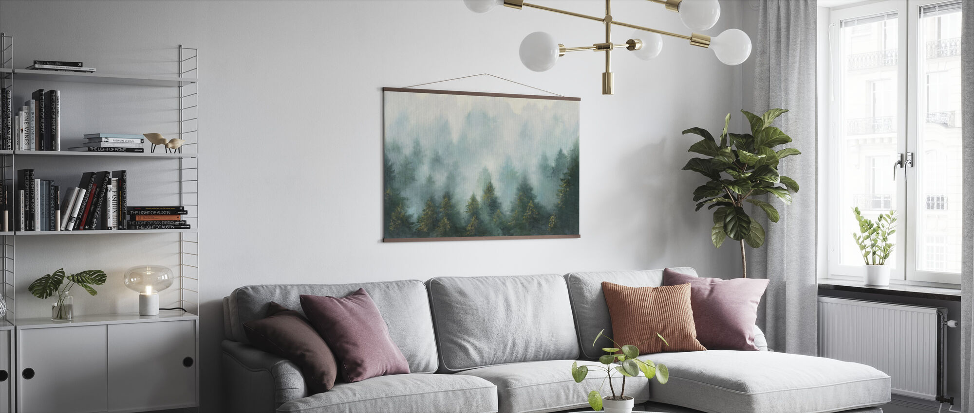 Misty Forest - Poster - Living Room