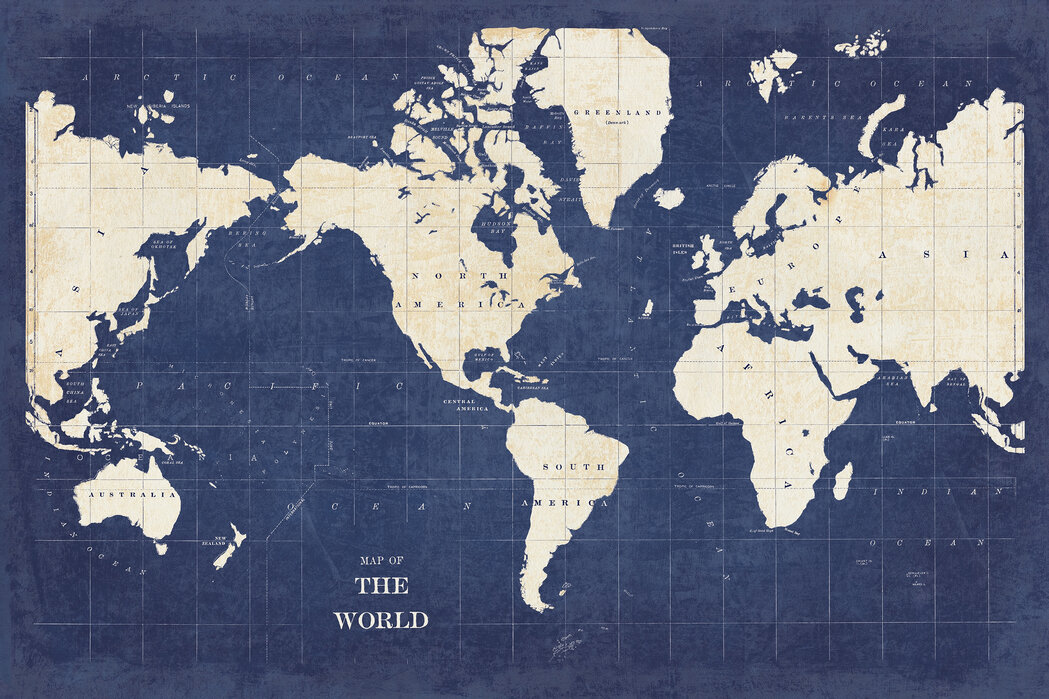 Map Of The World No Borders.Blueprint World Map No Border Made To Measure Wall Mural Photowall