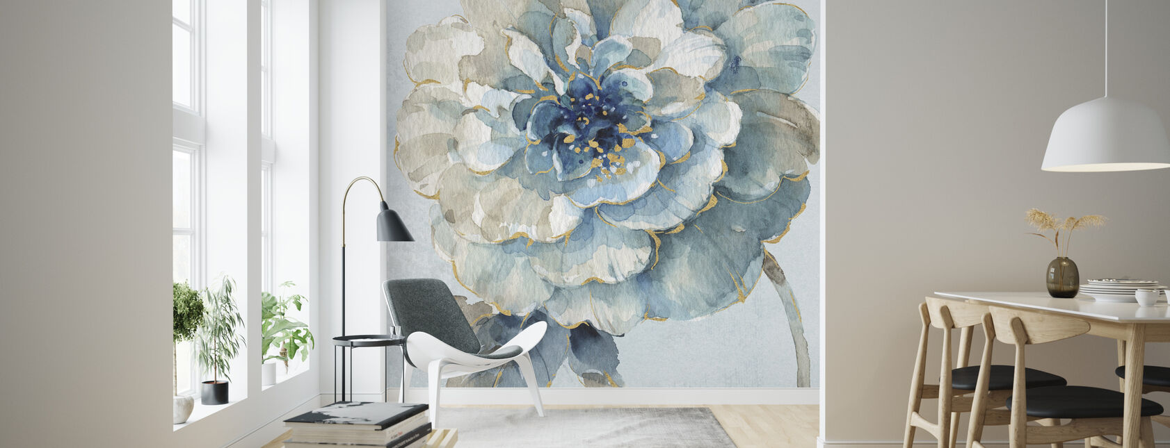 Indigold VII Light Blue - Wallpaper - Living Room