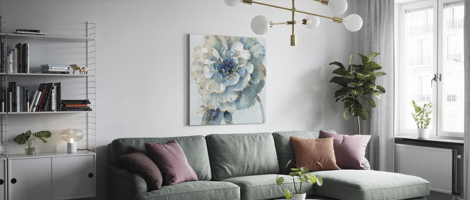 Indigold VII lyse blå - Lerretsbilde - Stue