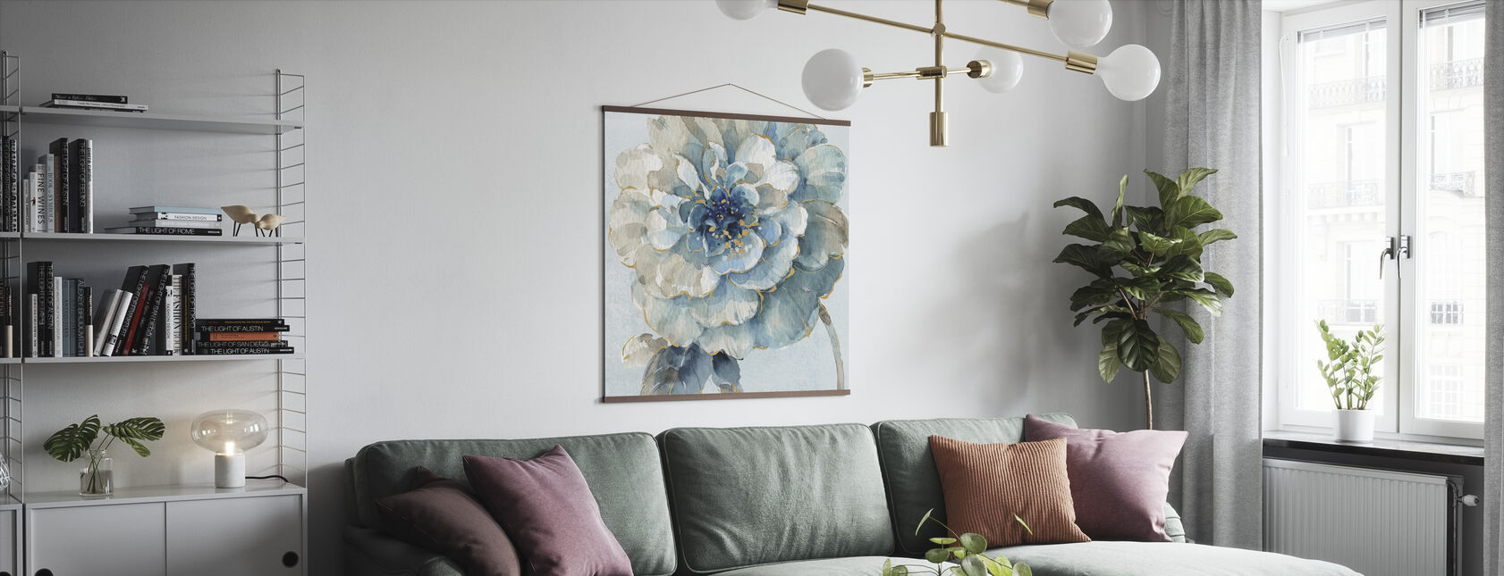 Indigold VII Light Blue - Poster - Living Room