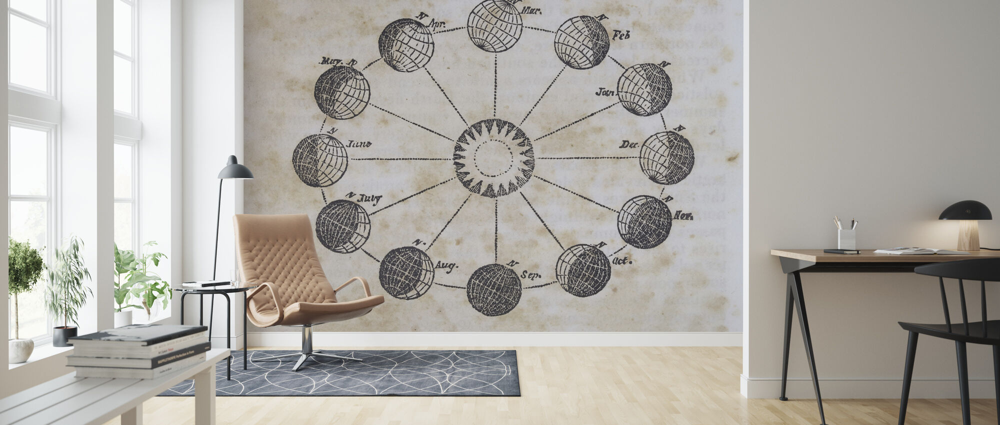 Geography of the Heavens VII - Wallpaper - Living Room