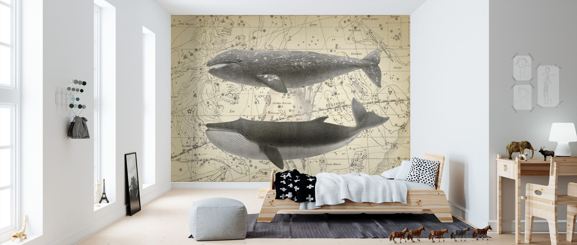 Whale Constellation - Wallpaper - Kids Room