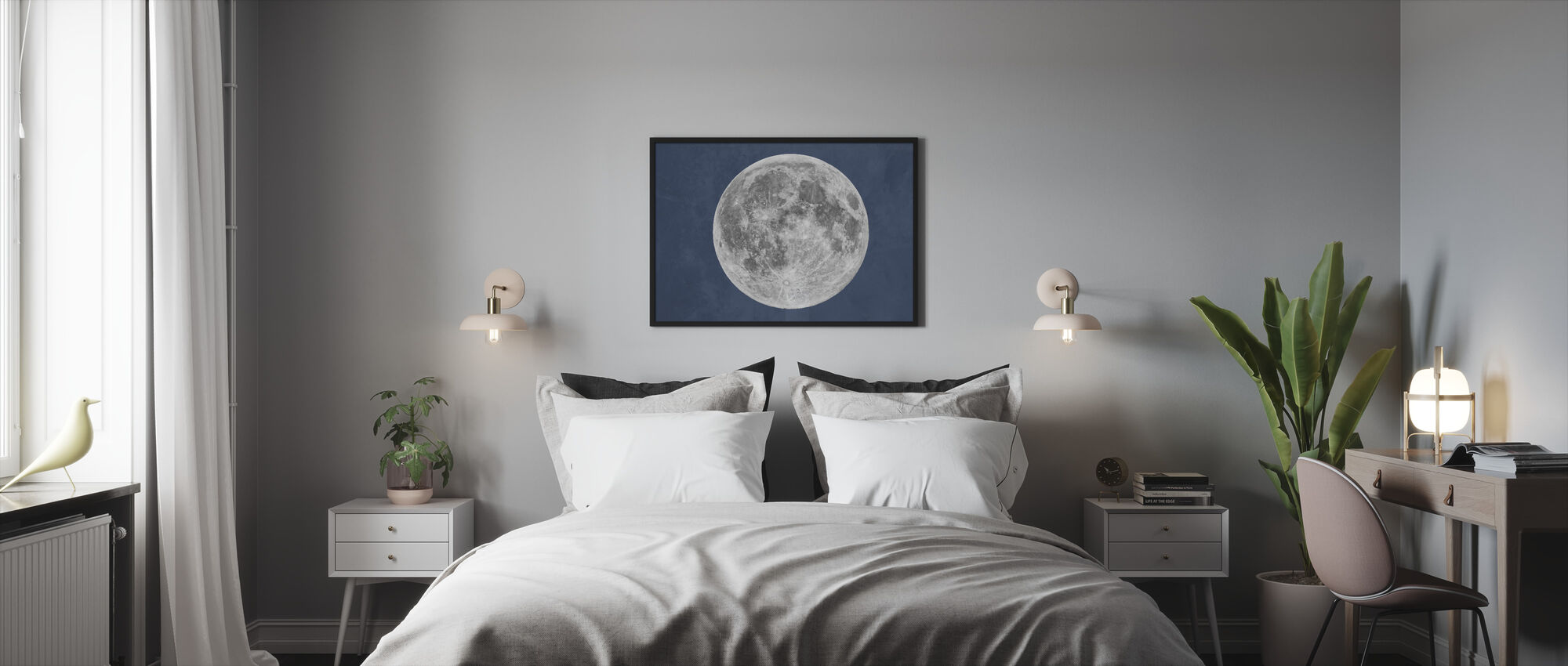 Blue Moon - Framed print - Bedroom