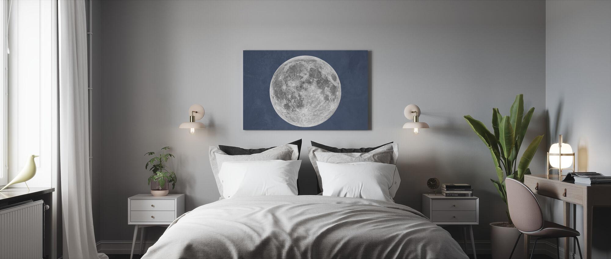 Sininen kuu - Canvastaulu - Makuuhuone