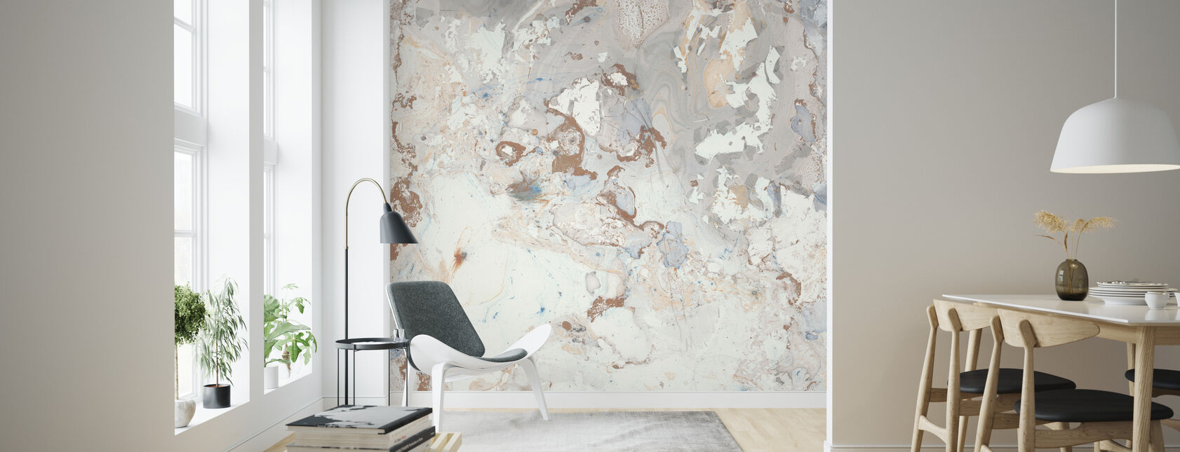 Blush Marble - Wallpaper - Living Room