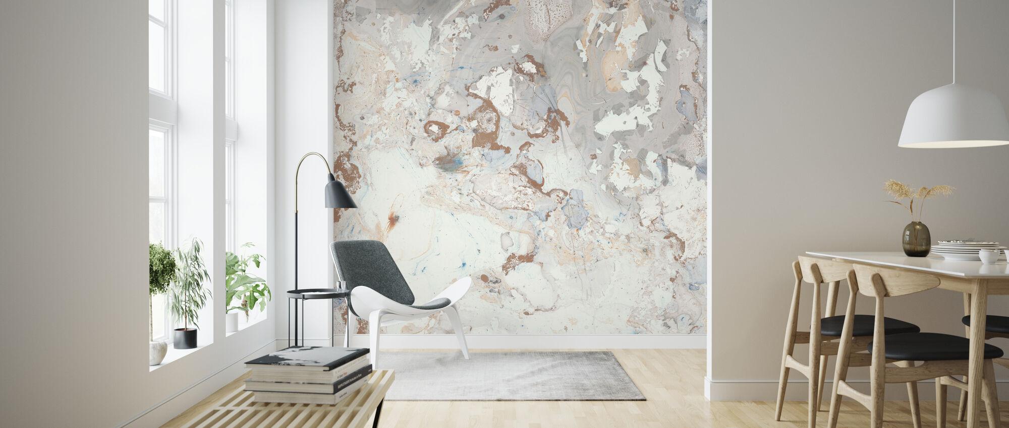Blush Marble - Wallpaper - Living Room