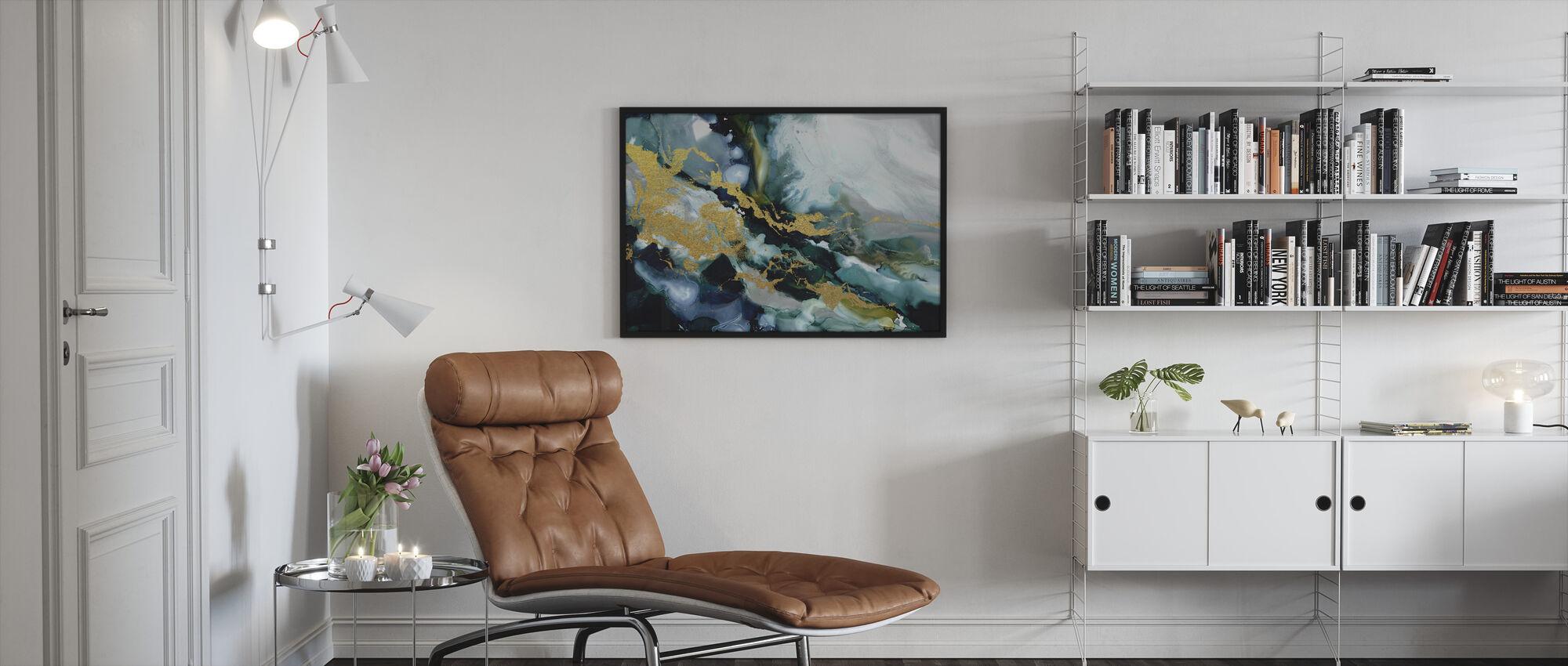 Golden Riptide - Framed print - Living Room