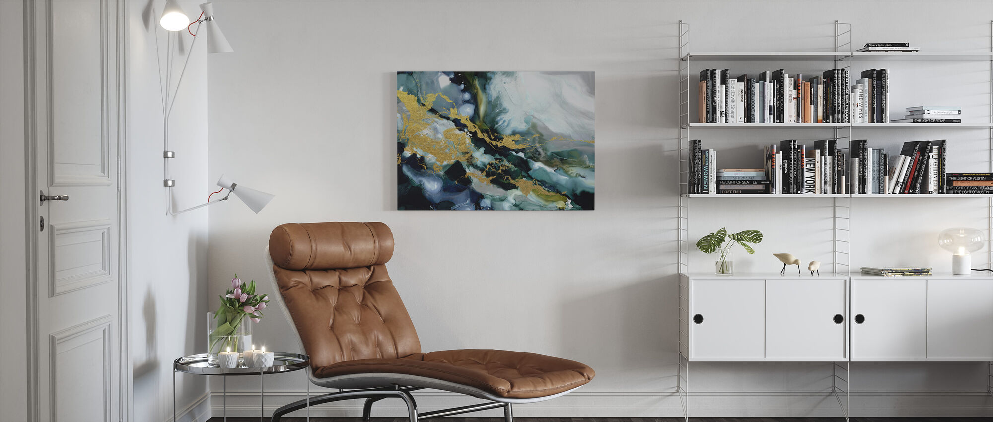 Golden Riptide - Canvas print - Living Room