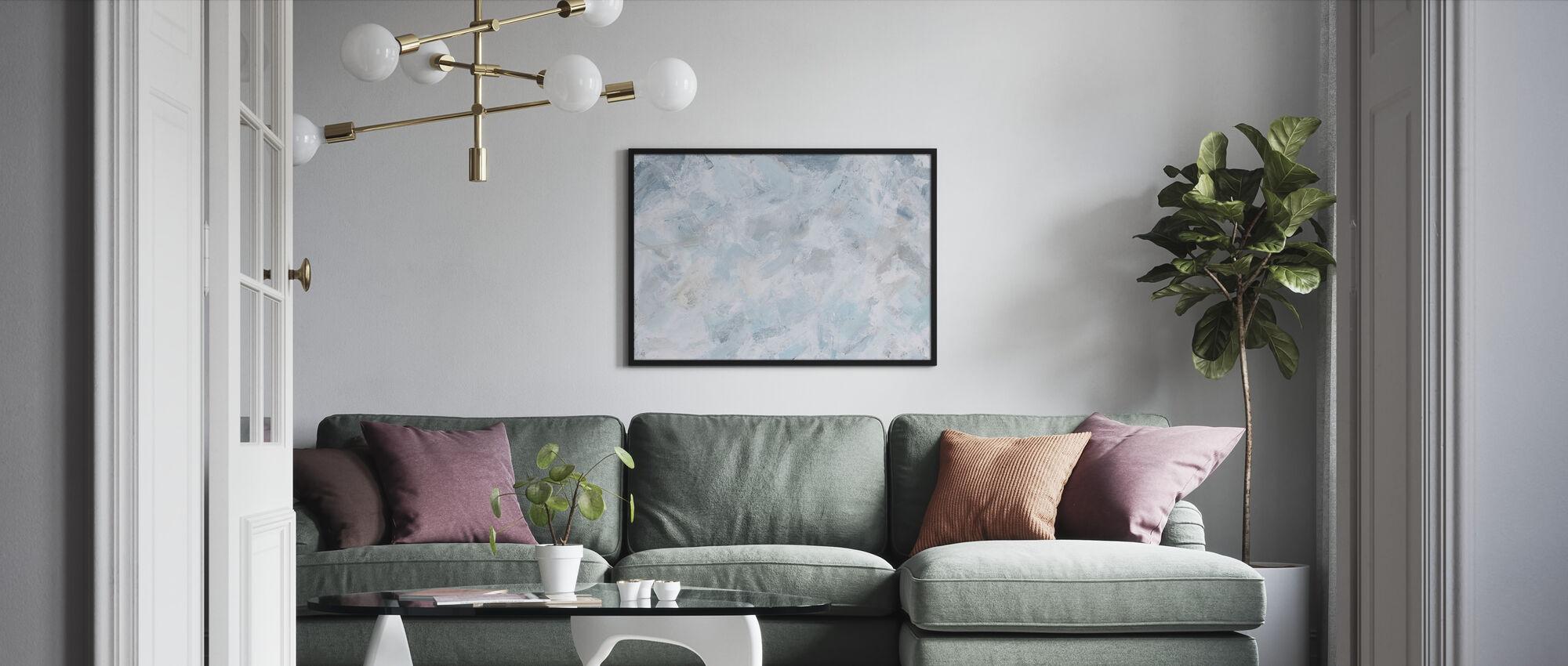 Tyyneyttä - Kehystetty kuva - Olohuone