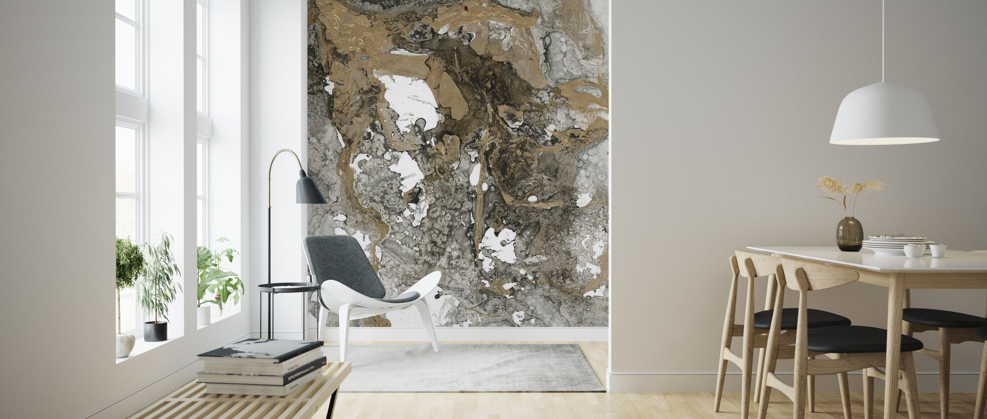 Abstrakt Mineral - Tapet - Stue