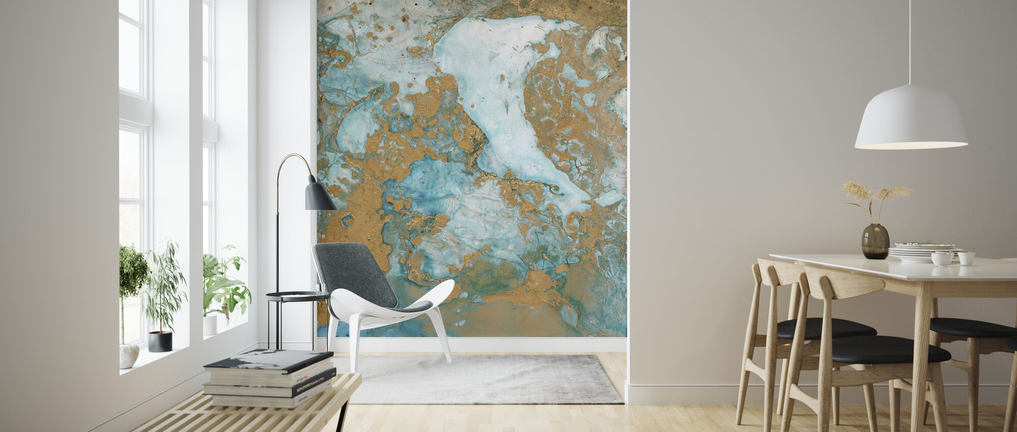 Abstract Mineraal - Behang - Woonkamer