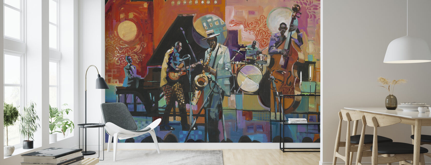 At jazz - Tapet - Stue