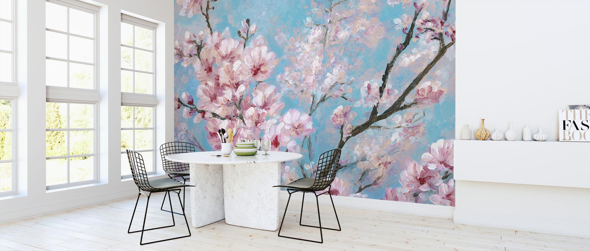 Cherry Blossoms - Wallpaper - Kitchen
