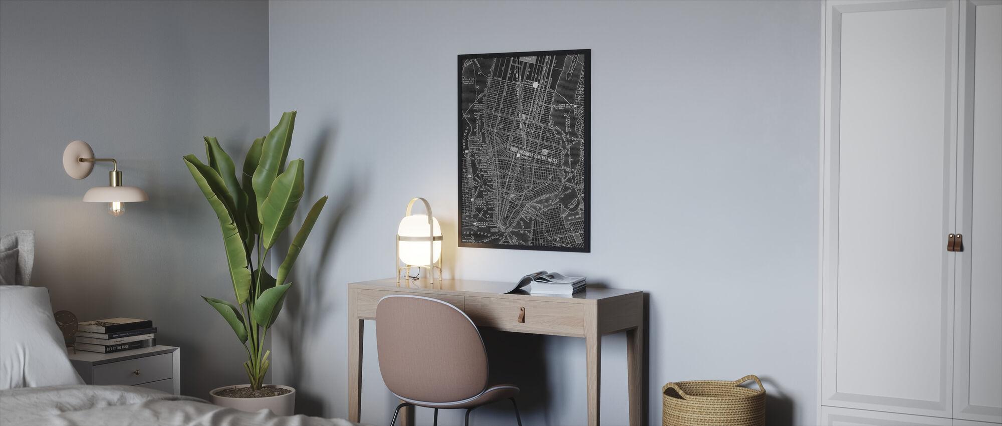 Broadway Central NYC Map - Framed print - Bedroom