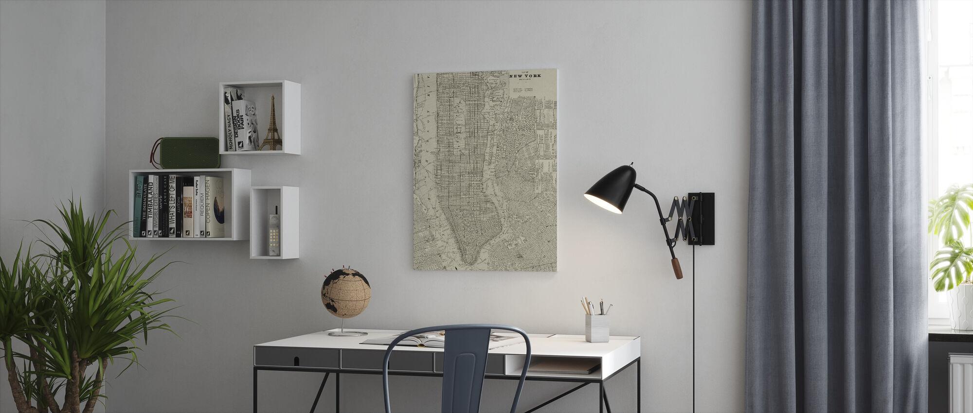 Newsprint NYC Map - Canvas print - Office