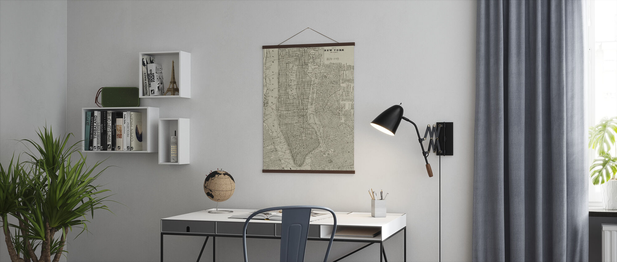 Newsprint NYC Map - Poster - Office
