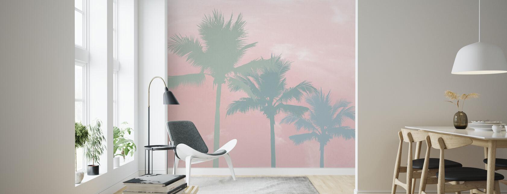 Sunset Palm Trees - Wallpaper - Living Room