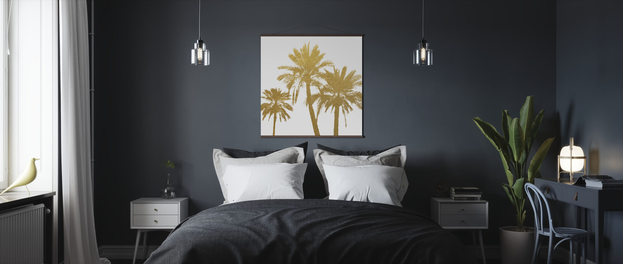 GLAM - Palm Trees on white - Poster - Bedroom