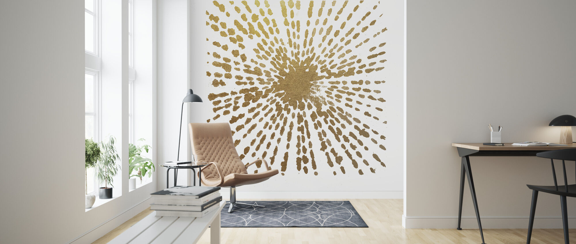 Gold Starburst - Wallpaper - Living Room