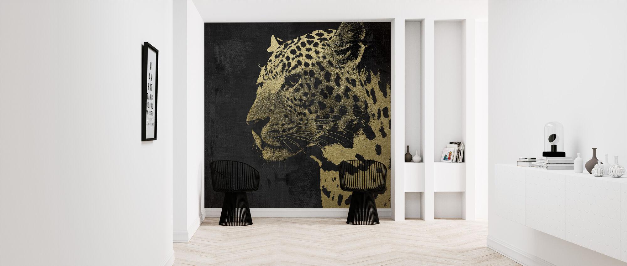 Gold Leopard - Wallpaper - Hallway