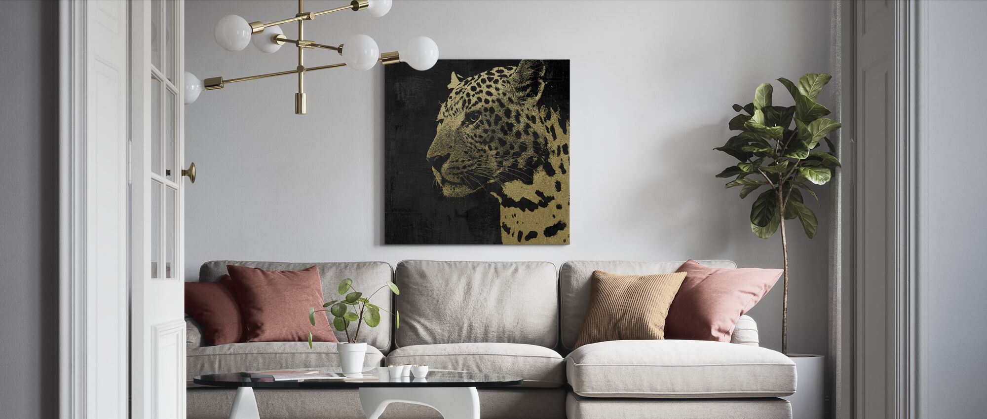Gouden Luipaard - Canvas print - Woonkamer