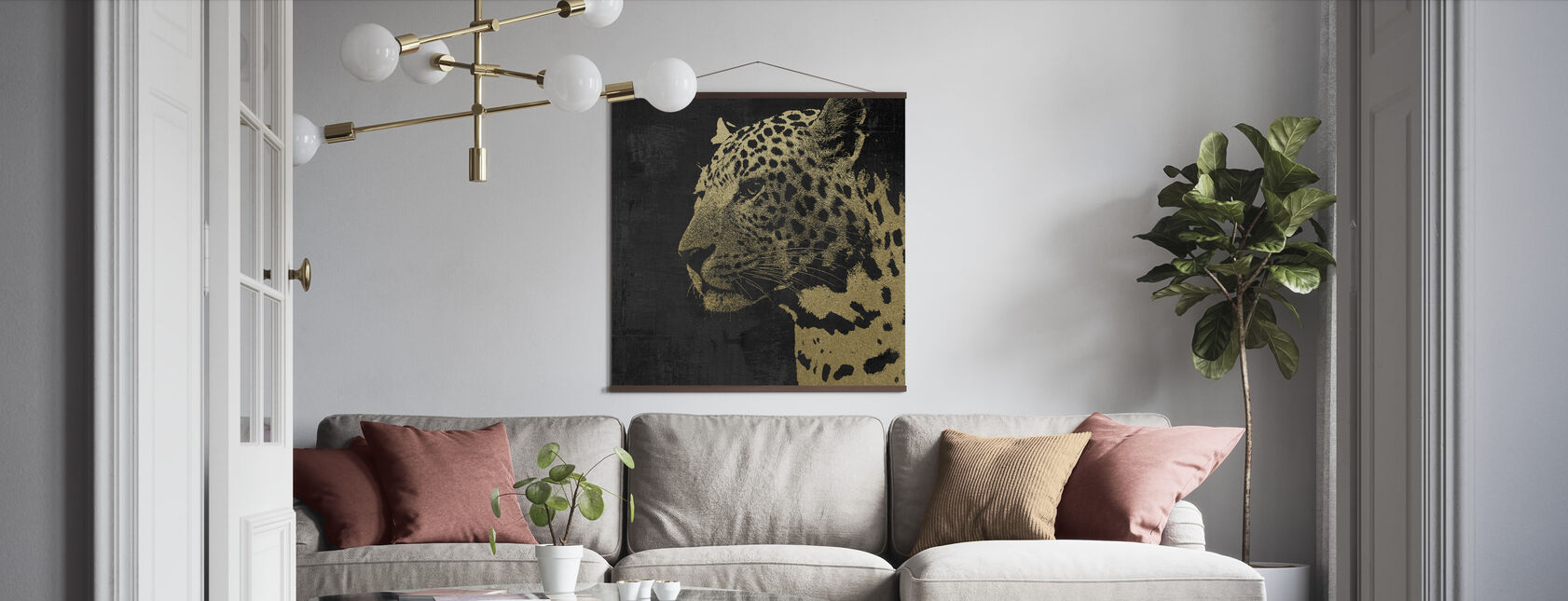 Gold Leopard - Poster - Living Room