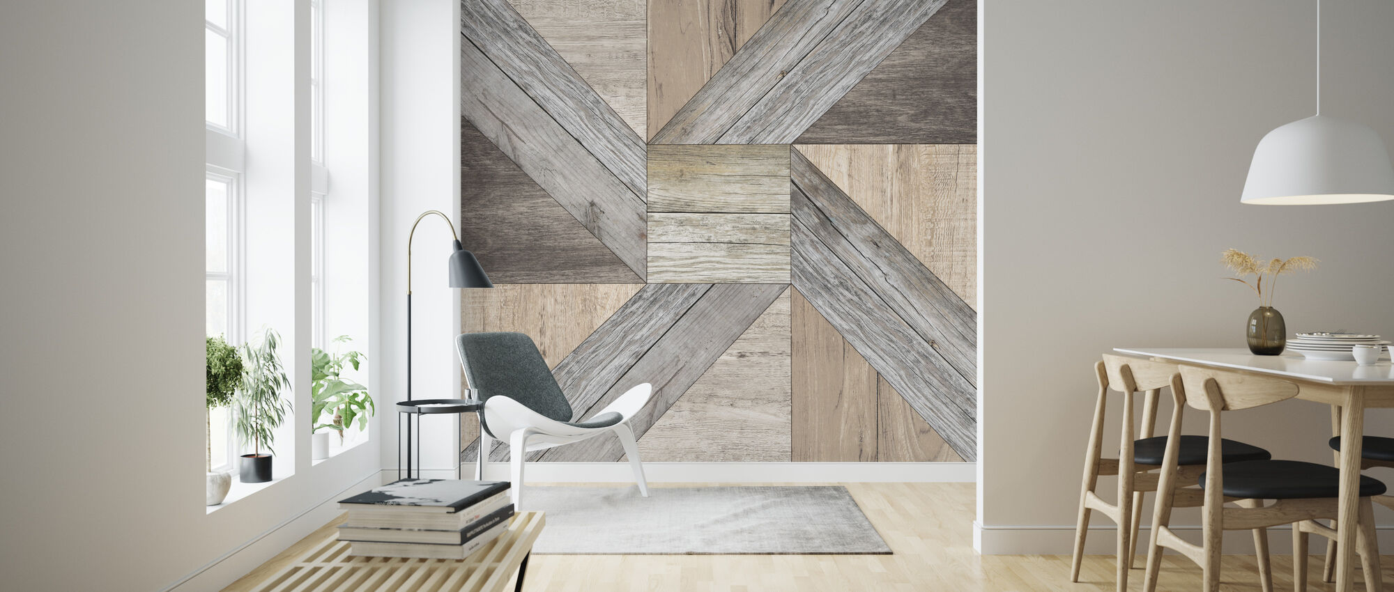 Reclaimed Pinwheel - Wallpaper - Living Room