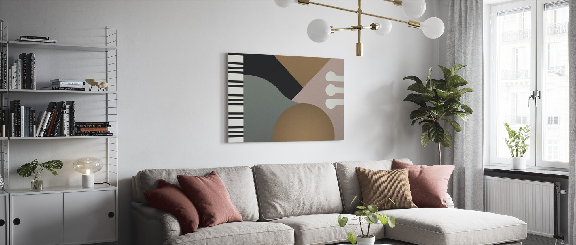 Geometric Contemporary Piano - Canvas print - Living Room