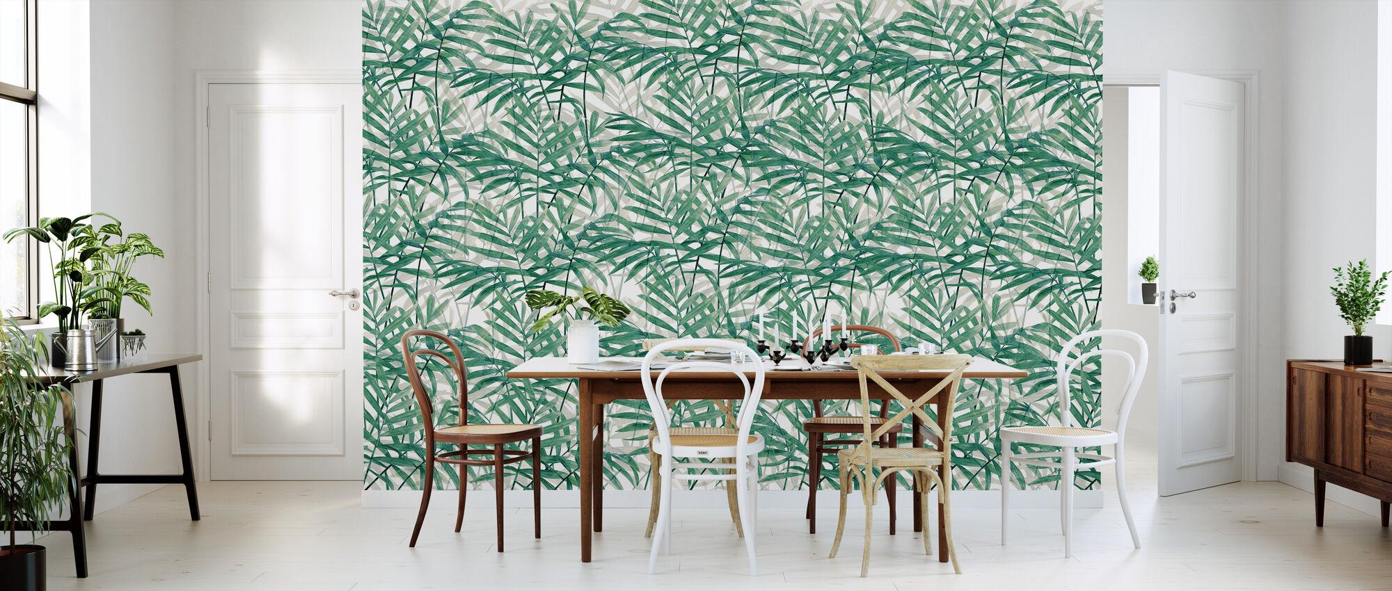Green Leaf Plant - Wallpaper - Kitchen