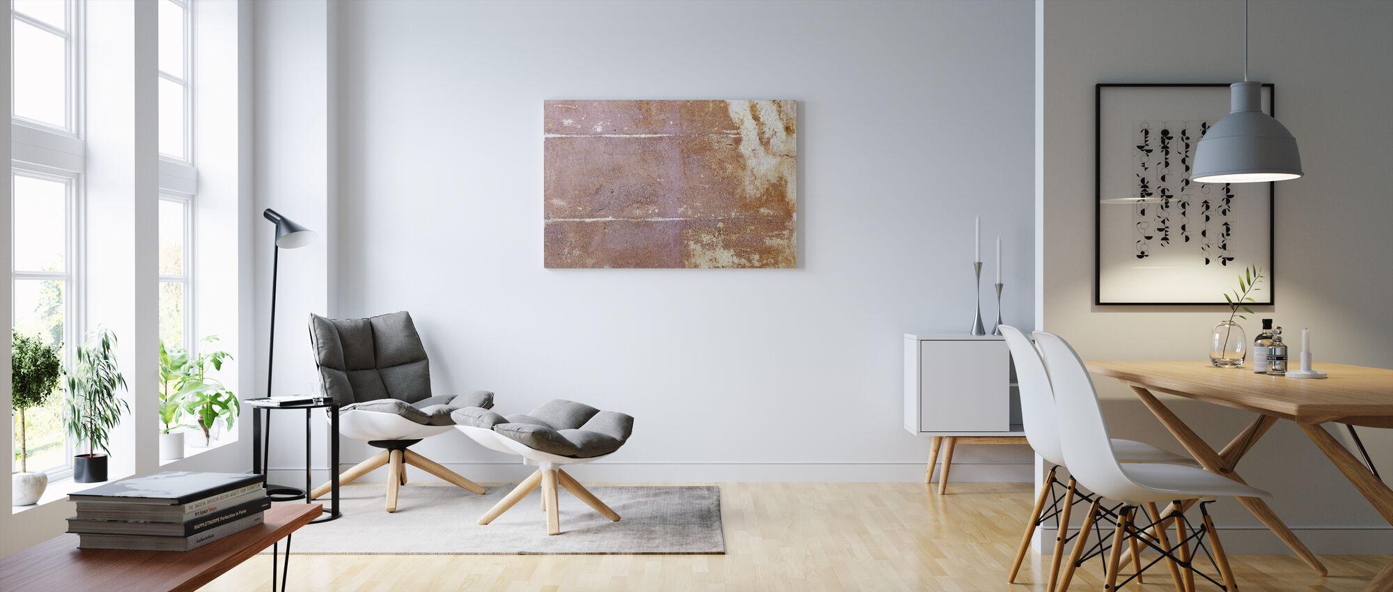 Rusty Wallpaper II - Canvas print - Living Room